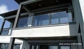 balcony glass railings on contemporary building