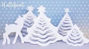 Printable Christmas Tree Hattifants 3d Paper Christmas Trees Hattifant