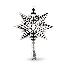 Baumspitze 3d Stern L30cm Silber