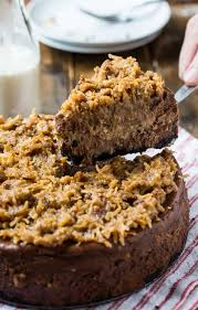 german chocolate cheesecake. Contemporary German German Chocolate Cheesecake With A Gooey Coconutpecan Frosting And R