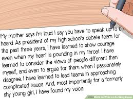 how to write a life story essay pictures wikihow image titled write a life story essay step 11