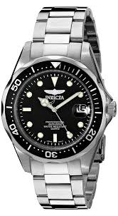 invicta unisex pro diver quartz watch black dial analogue invicta unisex pro diver quartz watch black dial analogue display and silver stainless steel bracelet 8932 invicta amazon co uk watches