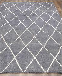 rugsville moroccan beni ourain dara dark gray wool rug 8 x 10