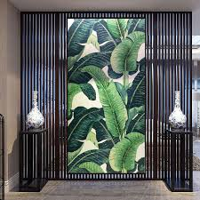 asian bathroom lighting. southeast asian tropical jungle banana large leaf mosaic tile handcut mural vestibule bathroom entrance backdrop decor yy207 lighting n