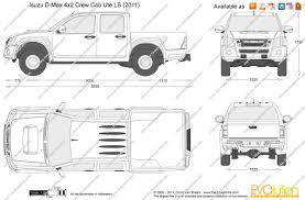 The-Blueprints.com - Vector Drawing - Isuzu D-Max 4x2 Crew Cab Ute LS