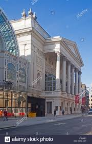 london covent garden the frontage of the royal opera house in bow street with the facade of 1858