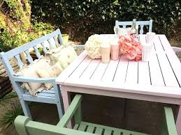 wooden outdoor furniture painted. Outdoor Furniture Paint Coloured Garden Should I Or Stain . Wooden Painted D