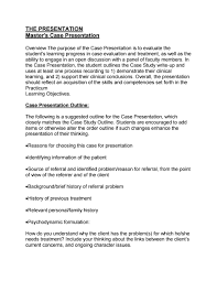 How To Do A Presentation Outline Ma Case Presentation Outline By Icsw Issuu