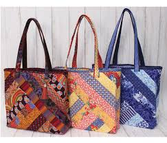 Tote Bag Designs Patterns Alexandra Tote Bag Quilt As You Go Pattern Pre Printed On Wadding