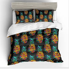 coloured pineapple bedding set digital printing duvet cover set pillowcases twin full queen super king size customizable boys bedding sets nursery bedding