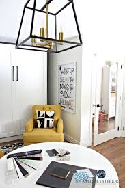 virtual home office. Home Office With Benjamin Moore Cloud White And Black Gold Accents Tricorn Black. Kylie M Interiors Color Consulting Virtual Design