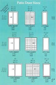 patio door sizes sliding door sizes standard