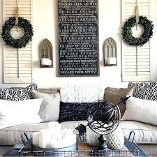 behind couch wall decor shelves living room decorations and farmhouse mirrors over the large awesome