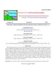Pdf Spectral Characteristics Of The 1960 Tsunami At