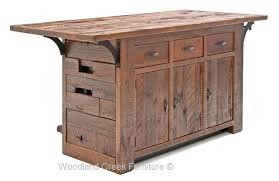 Antique Wooden Bar with Forged Metal Accents