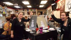 brushstrokes on canvas paint wine cl in lititz pa where art and socializing meet paint wine class in lititz pa