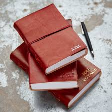 personalised large x large and large leather journals