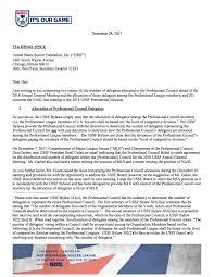 Nasl Sends Letter To U S Soccer Concerning Presidential
