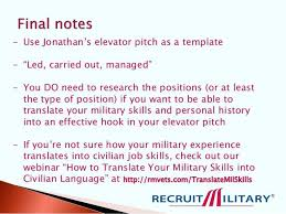 Elevator Speech Samples Template Job Seekers Puntogov Co