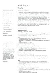 Teaching Template Job Description Teachers At School Teacher 1 Cv ...