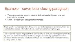 Cover Letter Closure | Resume CV Cover Letter