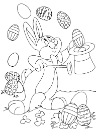 easter bunny colouring pages to print.  Bunny Magic Easter Bunny Coloring Picture With Colouring Pages To Print I