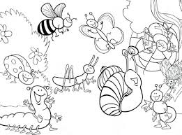 spring insects coloring pages simple insect free jennymorgan kids 1080