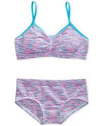 Maidenform Girl Bra Size Chart Space Print Ruched Bra Hipster Underwear Big Girls