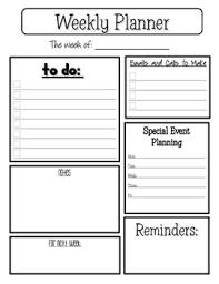 Planner Sheet Weekly Planner Sheet By Colleen Zehr Teachers Pay Teachers