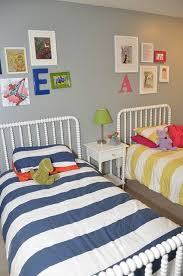 I love this for a shared room! Cute for girls or a boy/girl