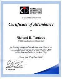 Best Photos Of Certificate Of Attendance Attendance Certificate
