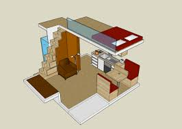 image of small house with loft design