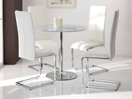 great round glass kitchen tables and chairs captainwalt in round glass dining table with white chairs decor