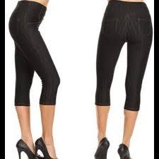 Jvini Plus Black Capri Jeggings Size 3x Boutique