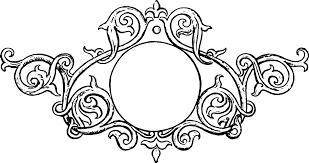 black ilration of ornate vine frame