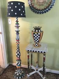 mackenzie childs lamp my own hand painted whimsical floor lamp and napkins mackenzie childs chandelier lamp
