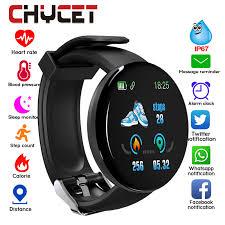 2019 Bluetooth <b>Smart Watch Men Blood</b> Pressure Round ...