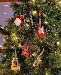 Musical Instrument Christmas Tree Ornaments Saxophone Drums Guitar Violin