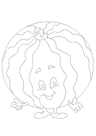 Watermelon Coloring Page | Preschool Printable Coloring Pages