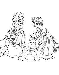 Disney Frozen Elsa And Anna Coloring Pages Frozen Coloring Pages