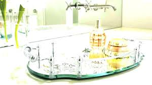 mirrored perfume tray glass vanity trays bathroom glass perfume tray mirrored vanity tray for dresser oval