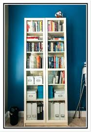 bookcase with doors bookshelf charming narrow white glass door ikea bookshelves billy bookcases and added molding