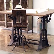 vintage home office furniture. Industrial Style Drafting Desks Eclectic Home Office Los Desk Trends Design Vintage Furniture N