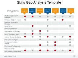 Professional Skill Set Professional Skills Portfolio Template Gap Analysis Presentation