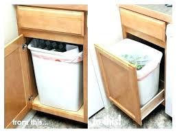 over the door trash can cabinet door trash can kitchen cabinet trash can kitchen cabinet trash