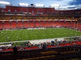 Fedex Field Seating Chart View Fedexfield View From Zone A Club 323 Vivid Seats