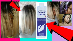 how to turn your hair from bry yellow to platium blonde with framesi purple shoo