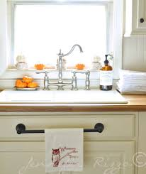 Kitchen Towel Rack Use A Towel Hanger On That False Drawer For Your Dish Towels In