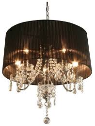 crystal chandelier with black shade designs within shades plan 19
