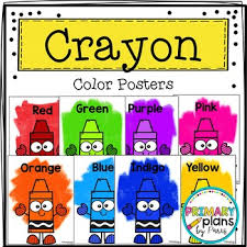 Crayon Color Posters Worksheets Teachers Pay Teachers